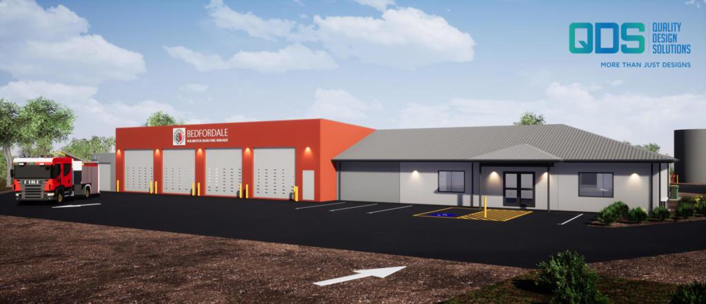 Rendered Image of Design & Construct Bedfordale Fire Station, Bedfordale