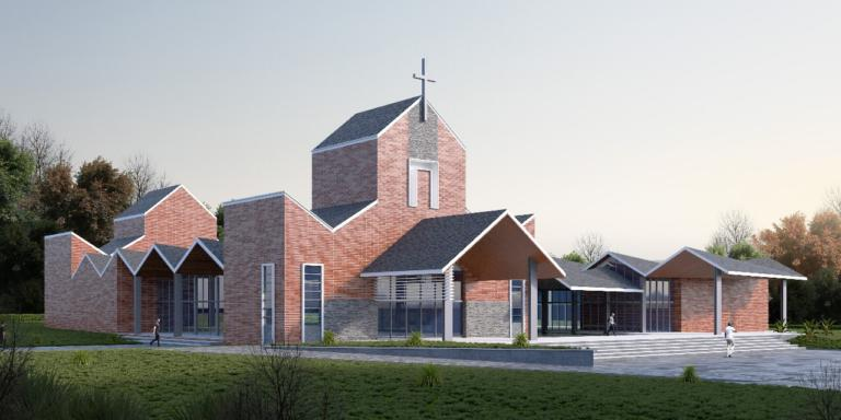 Rendered Image of Perth Tilt panel Church
