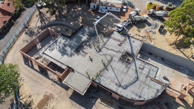 Concrete Pour at Amaroo Clubhouse & Administrative Building; Alita Constructions