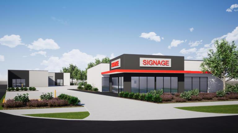 Rendered Image of Design & Construct Australind Showroom & Warehouse